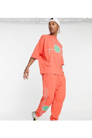 ASOS Homem Joggers - ASOS Daysocial co-ord oversized joggers with multi abstract shape print in orange