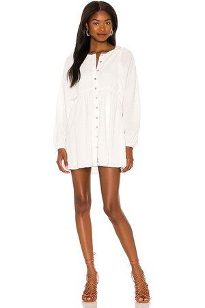 MAJORELLE Kimmie Mini Dress in - White. Size L (also in M, S, XL, XS, XXS).