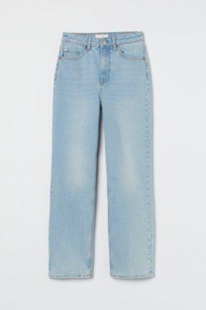H&M Senhora Retos - Straight High Ankle Jeans