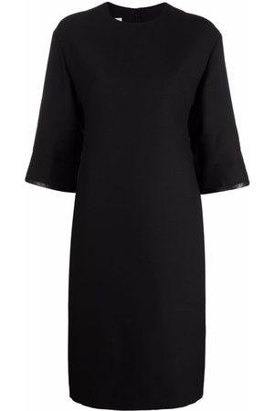 VALENTINO Senhora Vestidos Casual - Lambskin-panel pencil dress