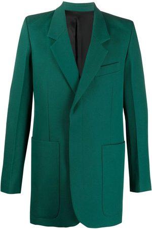 Ami Hidden-buttoning tailored blazer