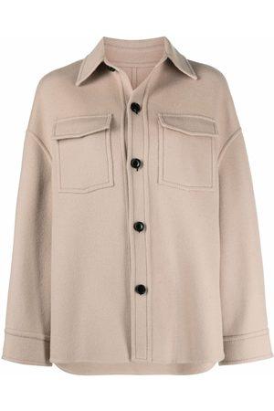 AMI Paris Senhora Formal - Buttoned wool overshirt