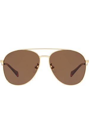 Gucci Senhora Óculos de Sol - Double-bridge aviator sunglasses