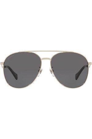 Gucci Eyewear Senhora Óculos de Sol - Double-bridge aviator sunglasses