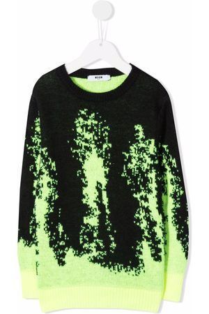 Msgm Glitch-print jumper