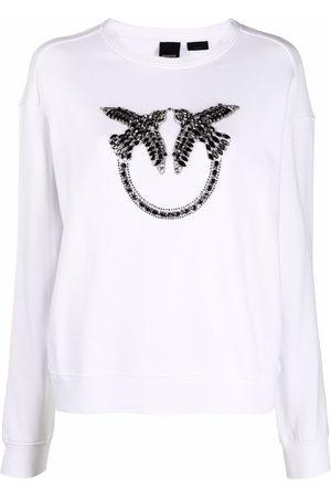 Pinko Love Birds logo sweatshirt