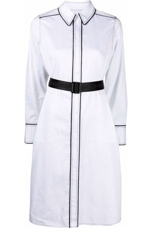 Karl Lagerfeld Senhora Vestidos Casual - Contrast-detail shirt dress