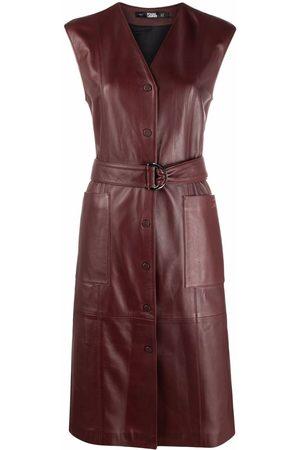 Karl Lagerfeld Sleeveless leather dress