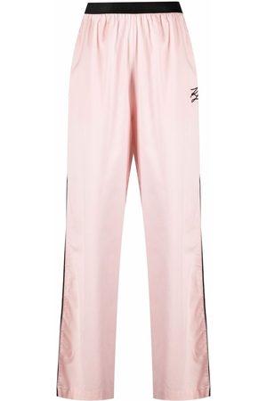 Karl Lagerfeld Senhora Calças - Embroidered detail pajama pants