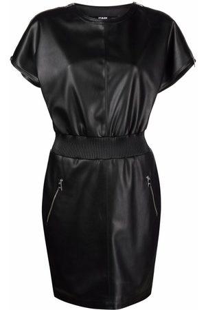 Karl Lagerfeld Senhora Vestidos Casual - Zip-detail faux leather dress