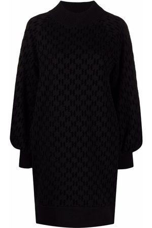 Karl Lagerfeld Senhora Vestidos Casual - Flocked monogram sweatdress