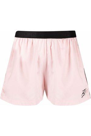 Karl Lagerfeld Senhora Pijamas - Logo-embroidered pajama shorts