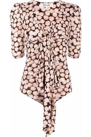 Diane von Furstenberg Senhora Bodies interiores - Foliage-print bodysuit