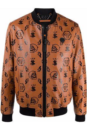 Philipp Plein Monogram-print bomber jacket