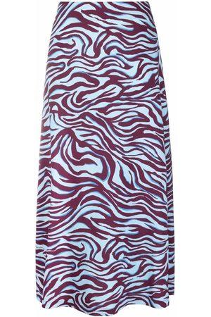 La DoubleJ Senhora Saias Estampadas - Zebra-print high-waisted skirt