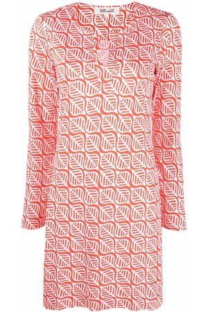 Diane von Furstenberg Leaf-print shift dress