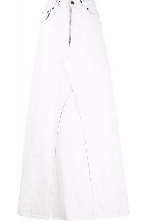 Maison Margiela Senhora Saias Compridas - High-waisted denim maxi skirt