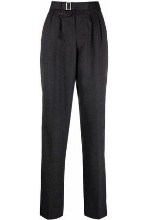 Maison Margiela Senhora Calças - High-waist pleated trousers
