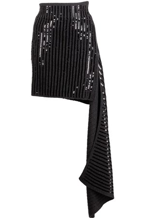 MONSE Senhora Mini-saias - Cascade sequinned mini skirt