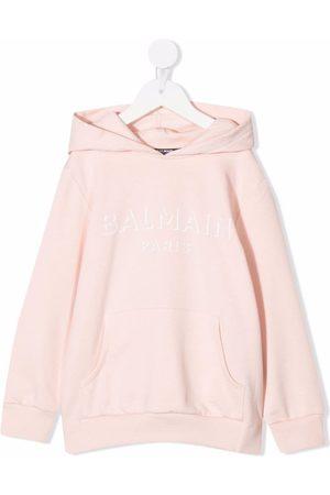 Balmain Menina Camisolas com capuz - Logo-print cotton hoodie