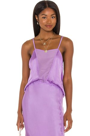 Indah Senhora Tops de Cavas - Geo Camisole in - Purple. Size L (also in S, XS, M).