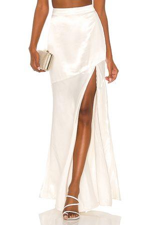 MAJORELLE Senhora Saias Compridas - Daniela Maxi Skirt in - Ivory. Size L (also in XXS, XS, S, M, XL).