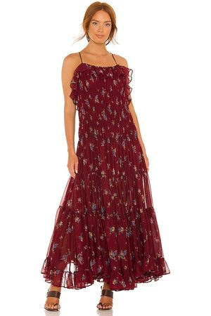 Free People Cloud Nine Maxi Dress in - Wine. Size L (also in XS, S, M, XL).