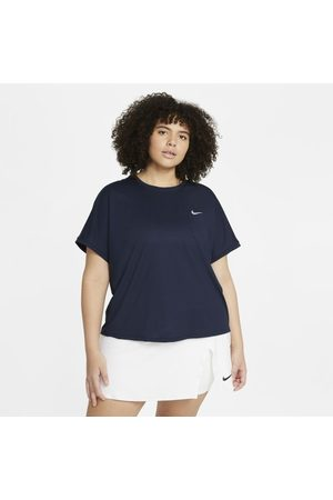 Nike Senhora T-shirts & Manga Curta - Camisola de ténis de manga curta Court Dri-FIT Victory para mulher (tamanhos Plus)