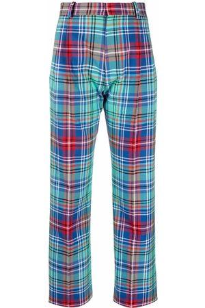Charles Jeffrey Loverboy Senhora Calças Formal - Martini tartan tailored trousers