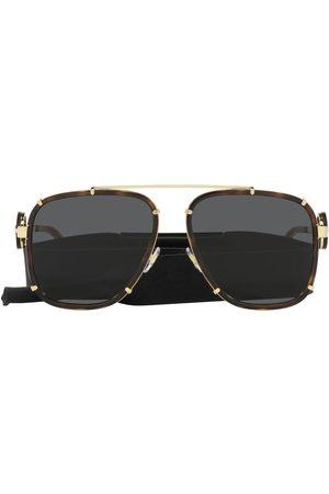 VERSACE Medusa-plaque aviator sunglasses