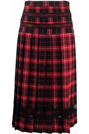 Pinko Tartan-print midi skirt