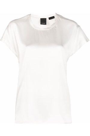 Pinko Senhora T-shirts - Round-neck short-sleeve T-shirt