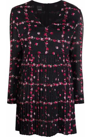 Pinko Senhora Vestidos Casual - Floral-print pleat-detail dress