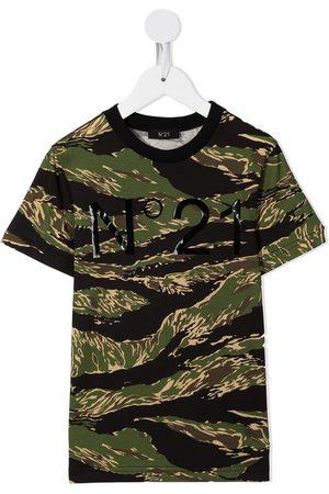Nº21 Menino T-shirts & Manga Curta - Camouflage logo-print T-shirt