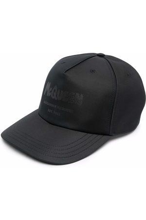 Alexander McQueen Homem Chapéus - Logo-print cotton baseball cap