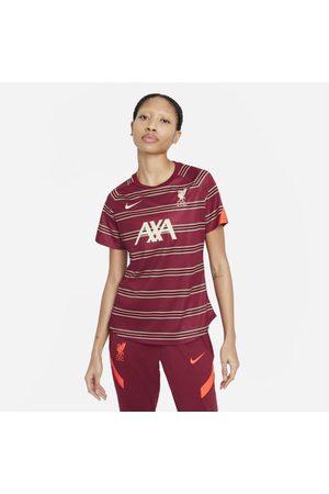 Nike Camisola de futebol de manga curta do equipamento de aquecimento Liverpool FC para mulher