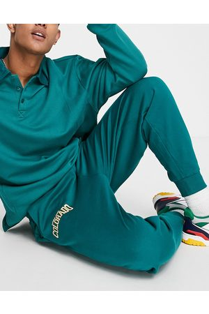 ASOS Homem Joggers - Co-ord oversized joggers in green with Colorado city print