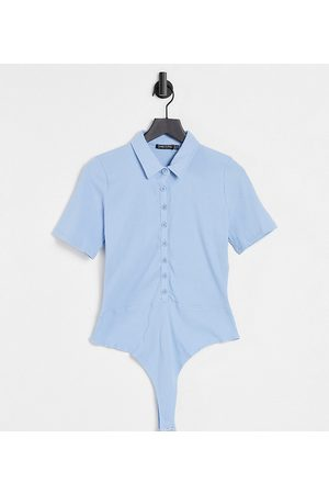 I Saw It First Curve I Saw It First Plus collar detail body in blue