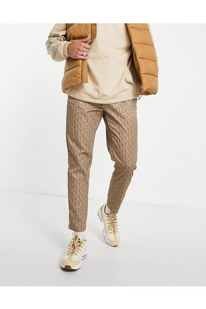 Sixth June Homem Joggers - Track joggers co-ord in beige with monogram logo print-Neutral