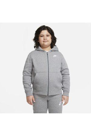 Nike Hoodie com fecho completo Sportswear Club Fleece Júnior (Rapaz) (tamanhos grandes)