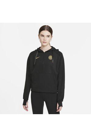 Nike Senhora Camisolas com capuz - Hoodie de futebol com fecho a 1/4 Inter de Milão para mulher