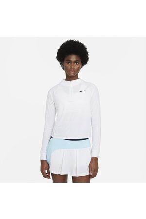 Nike Senhora Sweatshirts de Manga larga - Camisola de ténis de manga comprida com fecho até meio Court Dri-FIT Victory para mulher