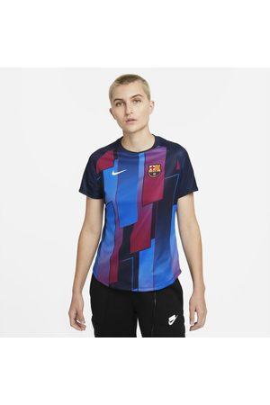 Nike Senhora T-shirts - Camisola de futebol de manga curta do equipamento de aquecimento FC Barcelona para mulher