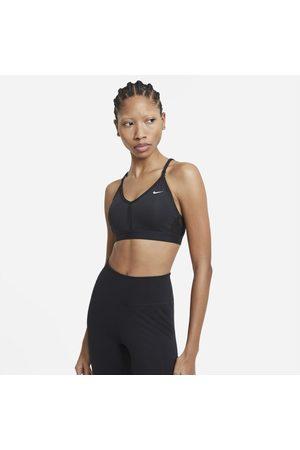 Nike Sutiã de desporto almofadado de suporte ligeiro com decote em V Dri-FIT Indy para mulher