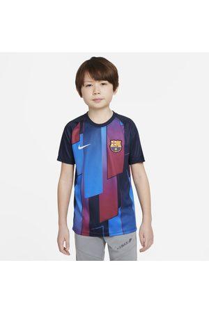 Nike Camisola de futebol de manga curta do equipamento de aquecimento FC Barcelona Júnior