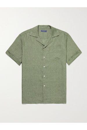 Frescobol Carioca Thomas Camp-Collar Linen Shirt