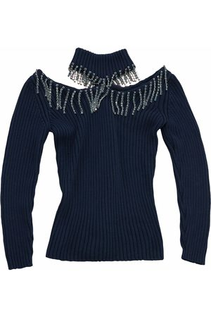 Christopher Kane Senhora Camisolas - Crystal cupchain cut-out sweater