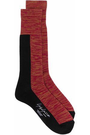 YOHJI YAMAMOTO Homem Meias - Patterned calf-length socks