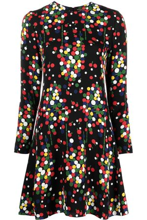 Saint Laurent Senhora Vestidos Casual - Long-sleeve polka-dot print dress