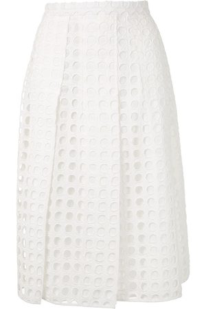 Nº21 A-line cut-out pleated skirt